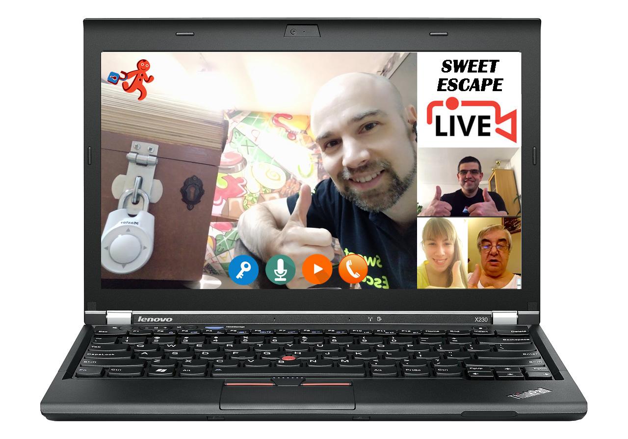 Online élő szabadulószoba a Sweet Escapetől