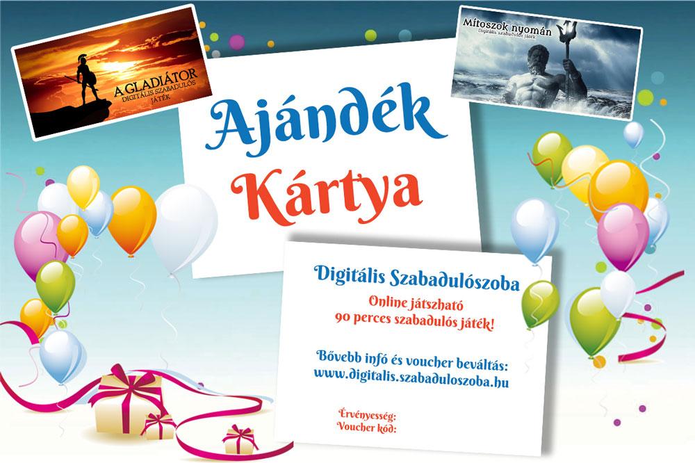 Digitális szabadulós játék Ajándékkártya