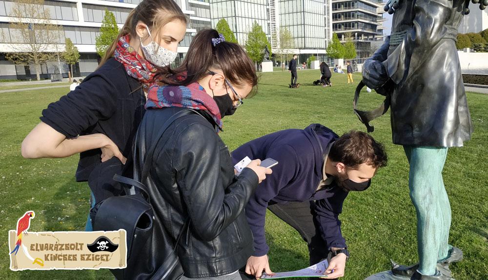 Szabadtéri kincskereső játék Budapest