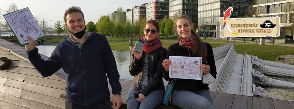 Szabadtéri kincskereső játék Budapesten