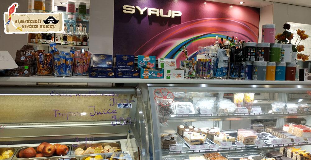 Syrup cukrászda a kincskereső játék partnere
